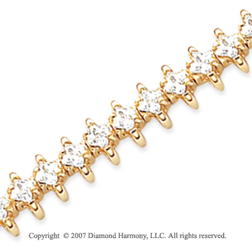 14k Yellow Gold Wing 4.70 Carat Diamond Tennis Bracelet