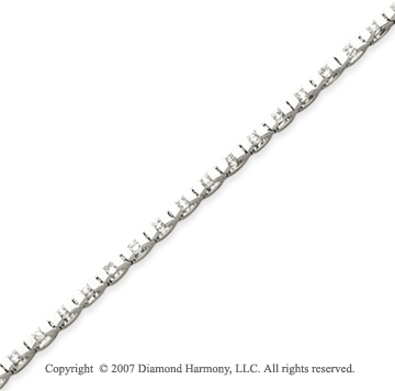 14k White Gold U Link 1.55 Carat Diamond Tennis Bracelet
