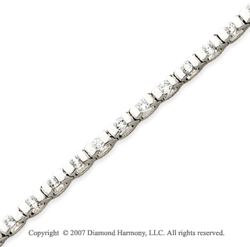 14k White Gold U Link 2.00 Carat Diamond Tennis Bracelet
