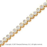 14k Yellow Gold Bezel 4 1/2 Carat Diamond Tennis Bracelet