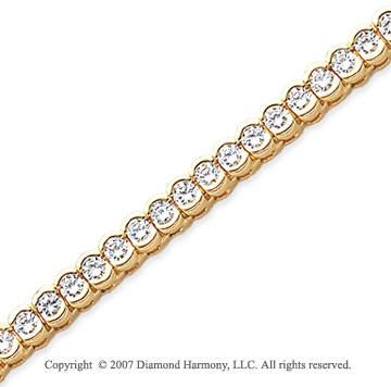 14k Yellow Goldold Open Bezel 5.50 Carat Diamond Tennis Bracelet