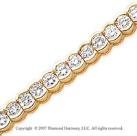14k Yellow Goldold Open Bezel 10.50 Carat Diamond Tennis Bracelet