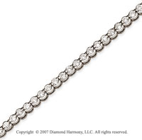 14k W Gold Open Bezel 2.95Ct Diamond Tennis Bracelet