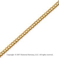 14k Yellow Goldold Open Bezel 1.00 Carat Diamond Tennis Bracelet