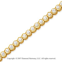 14k Yellow Goldold Open Bezel 3.95 Carat Diamond Tennis Bracelet