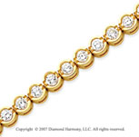 14k Yellow Goldold Open Bezel 4.95 Carat Diamond Tennis Bracelet