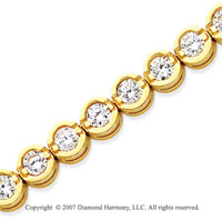14k Yellow Goldold Open Bezel 7.30 Carat Diamond Tennis Bracelet