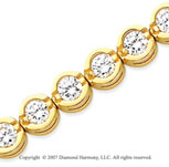 14k Yellow Goldold Open Bezel 9.90 Carat Diamond Tennis Bracelet