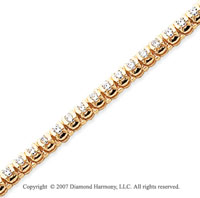 14k Yellow Goldold Open Bezel 2.50 Carat Diamond Tennis Bracelet