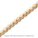 14k Yellow Goldold Open Bezel 4.25 Carat Diamond Tennis Bracelet