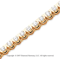 14k Yellow Goldold Open Bezel 5.10 Carat Diamond Tennis Bracelet