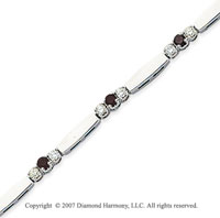 14k White Gold Prong 1.30 Carat Black Diamond Bracelet