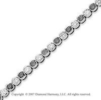 14k White Gold Fine 3 1/2 Carat Black Diamond Bracelet