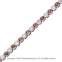 14k White Gold Fine 3 1/2 Carat Red Diamond Bracelet