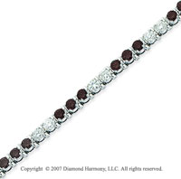 14k White Gold Prong 4 1/6 Carat Black Diamond Bracelet