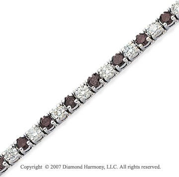 14k White Gold Prong 8.80 Carat Black Diamond Bracelet