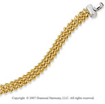 14k Two Tone Gold Pave Round 1/8 Carat Diamond Bracelet