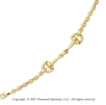 14k Yellow Gold 7.50 Inch Great Elegance Fine Bracelet