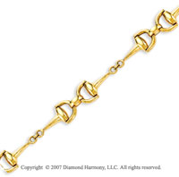 14k Yellow Gold 8.00 Inch Stylish Fashion Fine Bracelet