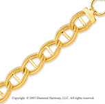 14k Yellow Gold 7.50 Inch Elegant Rope Links Bracelet