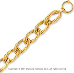 14k Yellow Gold 7.75 Inch Stylish Fashion Bracelet