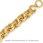 14k Yellow Gold 8.00 Inch Fashion Round Link Bracelet