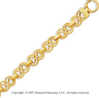 14k Yellow Gold 7.50 Inch Classico Fine Carved Bracelet
