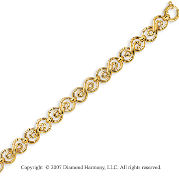 14k Yellow Gold 7.50 Inch Spring Ring Classico Bracelet