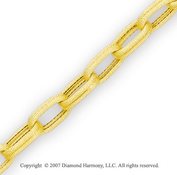 14k Yellow Gold 7.00 Inch Grand Spring Ring Bracelet