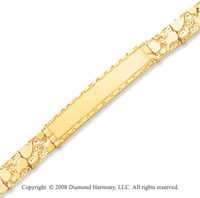 14k Yellow Gold Nugget ID Bracelet