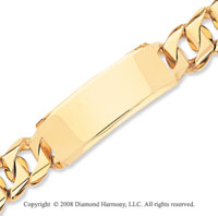 14k Yellow Gold Traditional Heavy Link ID Bracelet
