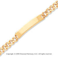14k Yellow Gold Traditional Link ID Bracelet