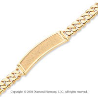 14k Yellow Gold Box Clasp Solid ID Bracelet