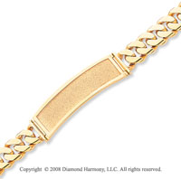 14k Yellow Gold Box Clasp Polished Solid ID Bracelet