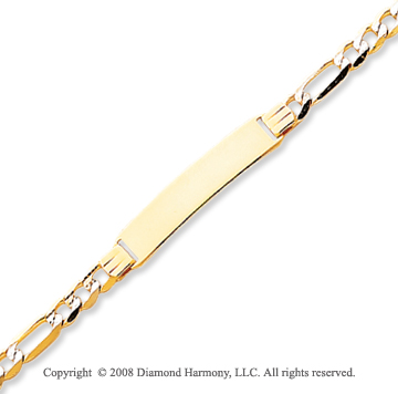 14k Yellow Gold 8 Inch ID Bracelet
