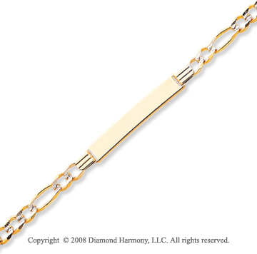 14k Yellow Gold 8 Inch Polished ID Bracelet
