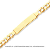 14k Yellow Gold Elegant 7.50mm Polished ID Bracelet