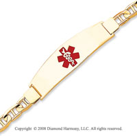 14k Yellow Gold Polished Medical ID Bracelet