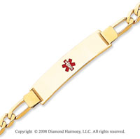 14k Yellow Gold Modern Medical ID Bracelet