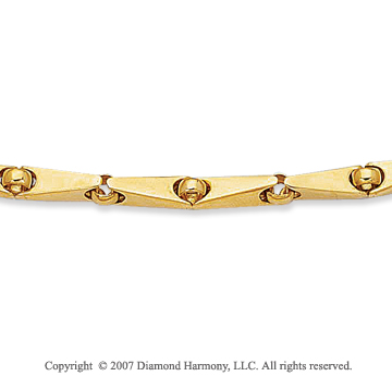 14k Yellow Gold Sleek Elegant Stylish Bracelet