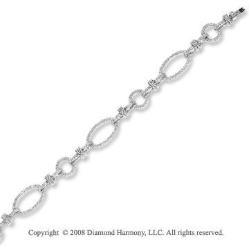 14k White Gold 1 3/4 Carat Diamond Bracelet