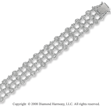 14k White Gold 1.20 Carat Amazing Diamond Bracelet