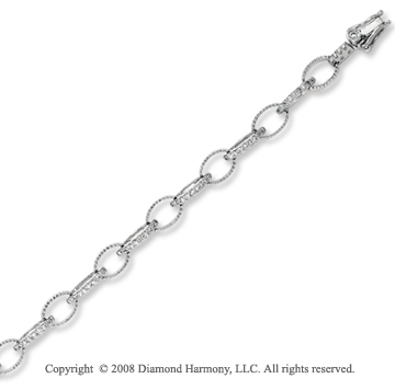 14k White Gold Beautiful .70 Carat Diamond Bracelet