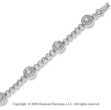 14k White Gold 2 1/3 Carat Diamond Tennis Bracelet