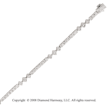 14k White Gold 1/2 Carat Unique Diamond Tennis Bracelet