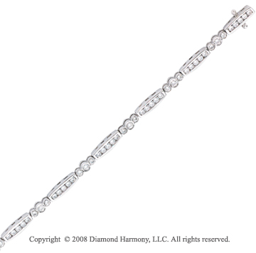 14k White Gold 1 1/4 Carat Diamond Tennis Bracelet