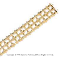 14k Yellow Gold 1 1/3 Carat Diamond Vintage Style Bracelet