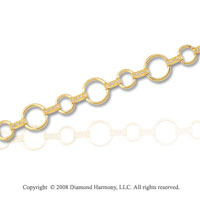 1/3 Carat Diamond 14k Yellow Gold Circle Bracelet