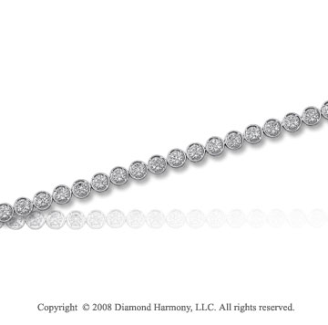 4/5 Carat Diamond 14k White Gold Migrain Circle Bracelet