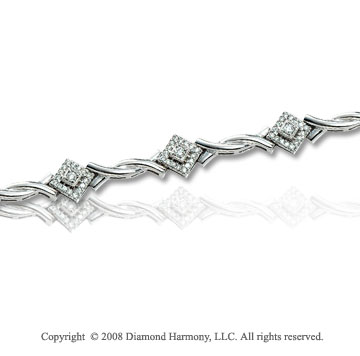 4/5 Carat Diamond 14k White Gold Fashion Bracelet
